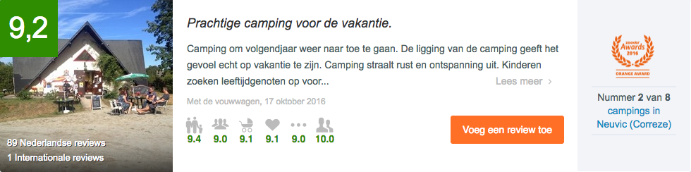 Zoover reviews camping Le Soustran