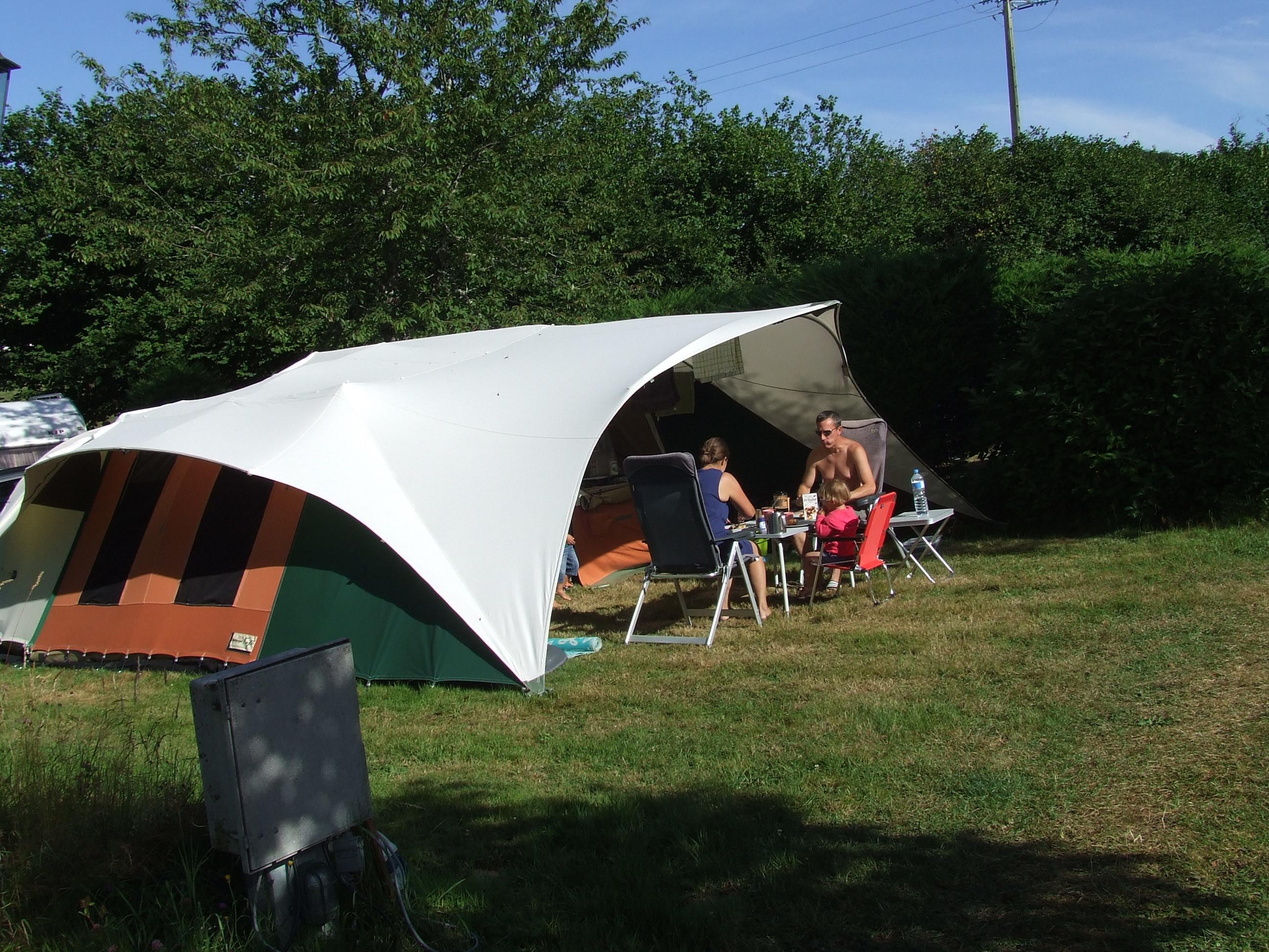 Een kampeerplaats